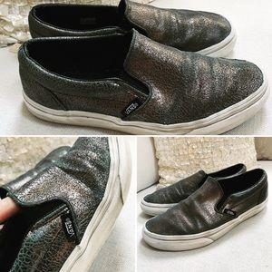 VANS Women's Sneakers Sz 7.5M Leather Bronze